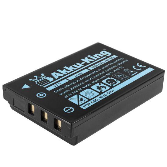 Akku kompatibel mit Kodak KLIC-5001 - Li-Ion 1800 mAh - für EasyShare DX6490