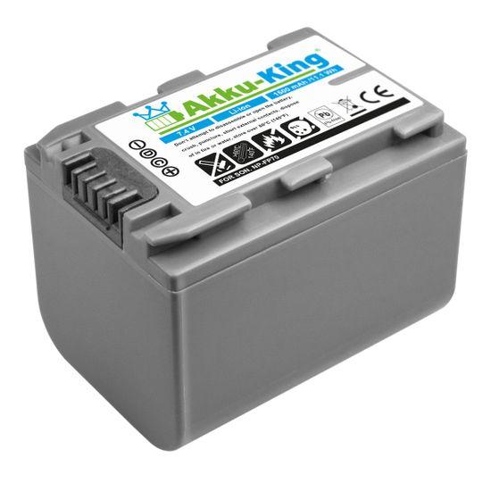Akku-King Akku kompatibel mit SONY NP-FP90, NP-FP50, NP-FP70 Li-Ion 1500 mAh - für DCR-30, DCR-DVD103, DVD803, SR90E, HDR-HC3