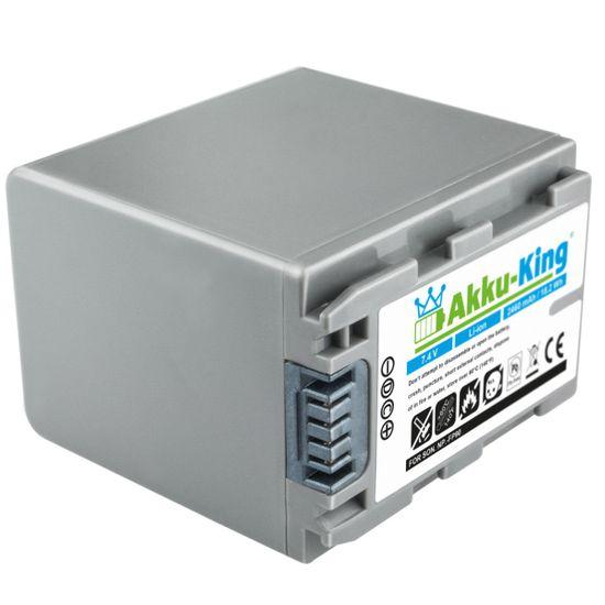 Akku kompatibel mit SONY DCR-30, DCR-DVD103, DVD803, SR90E, HDR-HC3 - ersetzt NP-FP90, NP-FP50, NP-FP70 Li-Ion 2460mAh