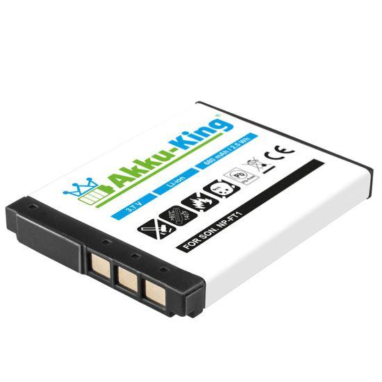 Akku-King Akku ersetzt Sony NP-FT1 Li-Ion 680mAh - für Cyber-shot DSC-L1, DSC-M1, DSC-M2, DSC-T10, DSC-T11, DSC-T5, DSC-T9