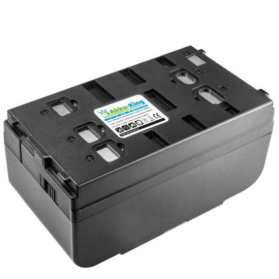 Akku-King Wendeakku universal fat für JVC, Panasonic, Samsung, Sanyo, Sharp, Sony - ersetzt BN-V11U, NP-33 /VW-VBS5E/6E Ni-MH 6V - 4000mAh