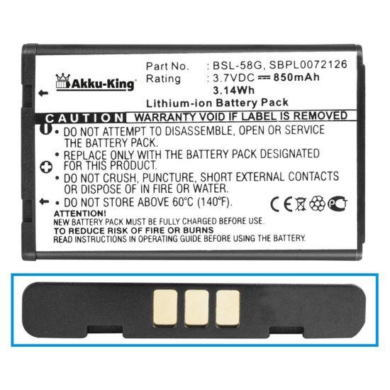 Akku-King Akku kompatibel mit LG BSL-58G, LGIP- A800 - Li-Ion 850mAh - für C3100, C3300, C3310, C3320, C3380, G650, GT-8124, L342i, L5100, M4410, T5100