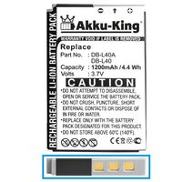 Akku-King Akku ersetzt Sanyo DB-L40 - Li-Ion 1200mAh - für Xacti DMX-HD1, DMX-HD1A, DMX-HD2, DMX-HD800, HD1, VPC-HD1, VPC-HD1A, VPC-HD1E, VPC-HD1EX