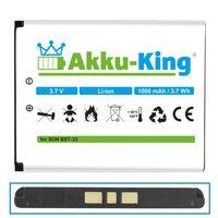 Akku-King Akku ersetzt Sony-Ericsson BST-33 Li-Ion 1000mAh - für K800i, K530i, K550i, K630i, K660i, K800i, K810i, P990i, W850i
