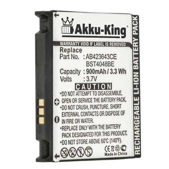 Akku kompatibel mit Samsung AB423643CC - Li-Ion 700 mAh - für SGH-D830, D838, X820, X828, U600, U608, E840, E848, AB394235CE