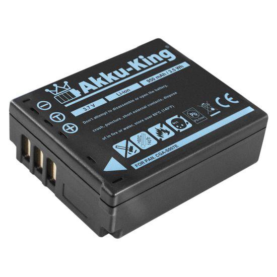 Akku-King Akku kompatibel mit Panasonic CGA-S007, DMW-BCD10 - Li-Ion 950mAh - für Lumix DMC-TZ1, DMC-TZ11, DMC-TZ2, DMC-TZ3, DMC-TZ4, DMC-TZ5