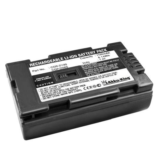 Akku-King Akku ersetzt Panasonic DZ-BP14, CGA-D07S, CGP-D110 - Li-Ion 1100mAh - für CGR-D120, CGP-D08S, VW-VBD21, HITACHI DZ-MV100