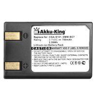 Akku-King Akku für Panasonic CGA-S101, CGR-S101E, DMW-BC7 - Li-Ion 700mAh