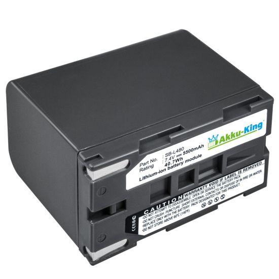 Akku kompatibel mit Samsung SB-L110A, SB-L480 Li-Ion - 5500mAh - für SCL810, SCL860, VP-L800, VP-M54, VP-W90, Medion MD9021, 9035n