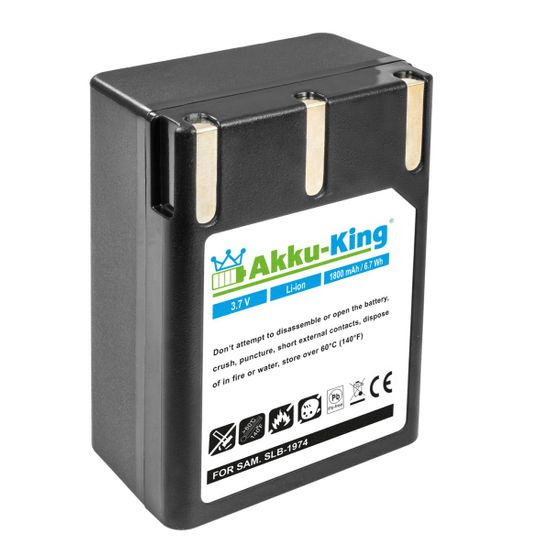 Akku-King Akku ersetzt Samsung SLB-1974 - Li-Ion 7,4 V 1800mAh - für Pro 815, Pro 815SE