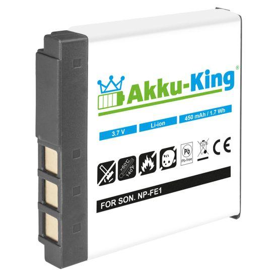 Akku-King Akku kompatibel mit Sony NP-FE1 Li-Ion 450 mAh - für Cyber-shot DSC-T7, DSC-T7/B, DSC-T7/S