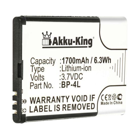 Akku kompatibel mit Nokia E61i, E63, E52, E71, E90, N97, N810, E6-00, 6760 - ersetzt BP-4L, BP-4C