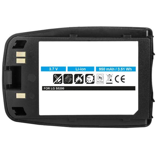 Akku für LG S5200 - ersetzt LGLP-GAHM, BSP-16G - Li-Ion 950mAh - schwarz