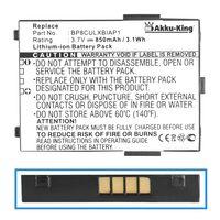 Akku für Mitac Mio 339, Yakumo Delta 400, Medion MD 2190 MD40600 MD4600 MD96300, BP8CULXBIAP1, Viewsonic V36 - 850mAh Li-Ion