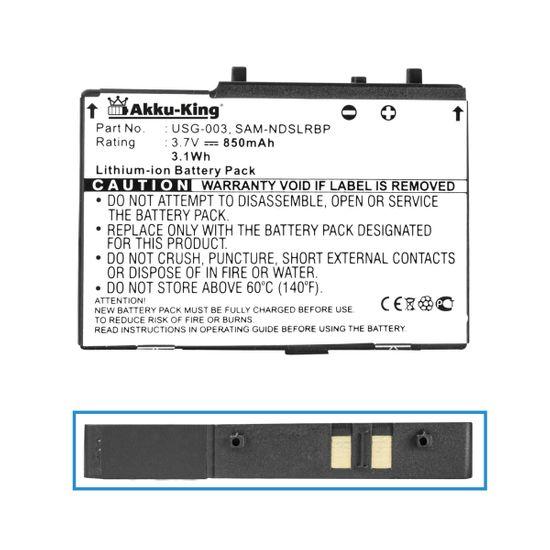 Akku-King Akku ersetzt Nintendo USG-003 - Li-Ion 850mAh - für DS Lite