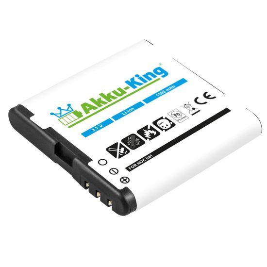 Akku kompatibel mit Nokia 6720, E51, N78, N81, N81 8GB, N82, 5610, 6110, 6500, 6270 - ersetzt BP-6MT Li-Ion