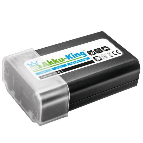 Akku-King Akku kompatibel mit Nikon EN-EL1 - Li-Ion 850 mAh - für Coolpix 4300, 4500, 4800, 5000, 5400, 5700