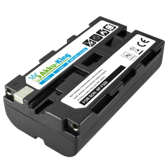 Akku kompatibel mit Sony NEX-EA50, CCD-RV100,  TR2200E, Cyber-shot DSC-CD250, DCR-SC100 - ersetzt NP-F550, NP-F500, NP-F520, NP-F570, NP-F730 Li-Ion 2200mAh