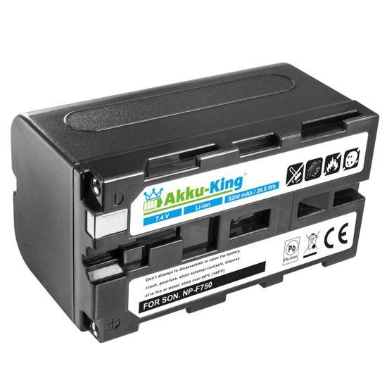 Akku-King Akku ersetzt Sony NP-F330, NP-F530, NP-F550, NP-F930 Li-Ion - 5200mAh - für NEX-EA50, CCD-SC5, DCR-TR8000, DSR-200, HVL-ML20, HVR-Z1J