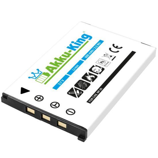 Akku kompatibel mit Casio NP-20 NP20 NP-20DBA NP20DBA - Li-Ion 600mAh