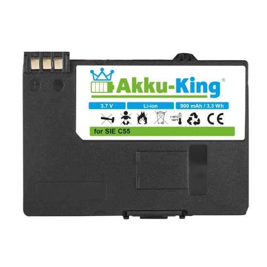 Akku-King Akku ersetzt Siemens EBA-510 - Li-Ion 900mAh - für C55, A51, A52, A55, A57, S55, SL55, Sinus 701, Gigaset SL37H,  V30145-K1310-X250