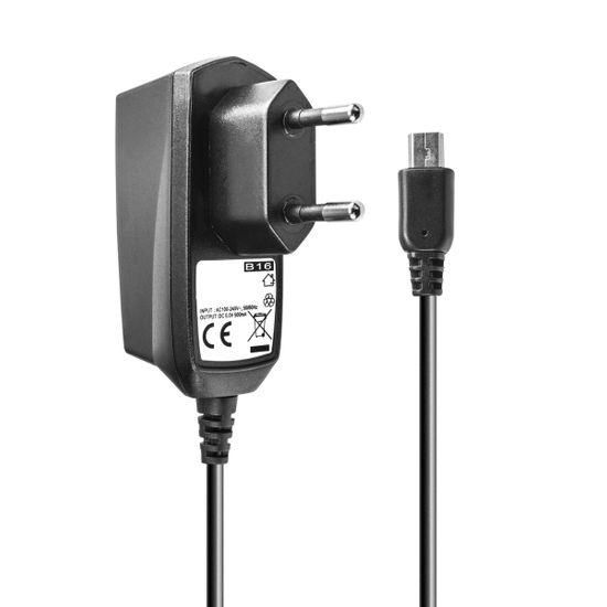 Ladegerät für Motorola V3 A780 C390 E680 E770v E1070 MPx200 L2 L6 L9 V235 V360 W375 W377 W510 Razr V3i V3x Audioline Amplicom (mini-USB)
